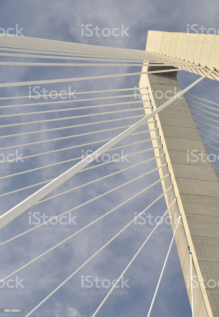 Cooper River Bridge, Charleston, SC royalty-free stock photo