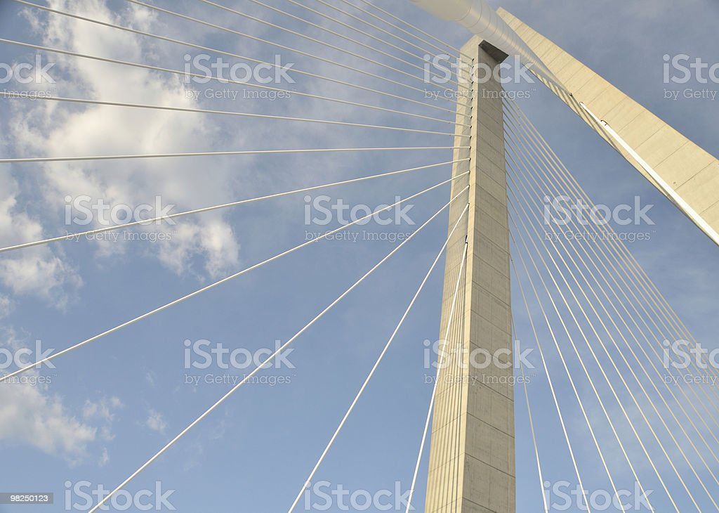 Cooper River Bridge, Charleston, SC royalty-free stock photo