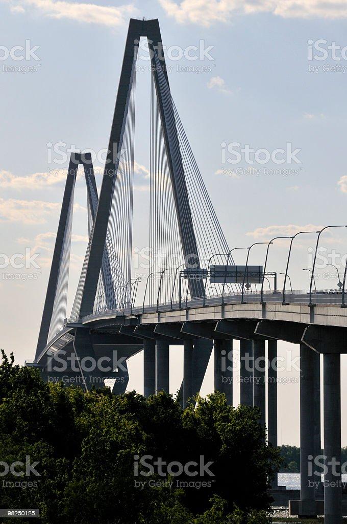 Cooper River Bridge, Charleston, Carolina del Sud foto stock royalty-free