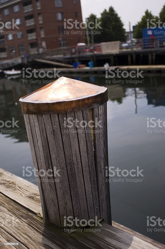 Cooper Top piling on a wharf royalty-free stock photo
