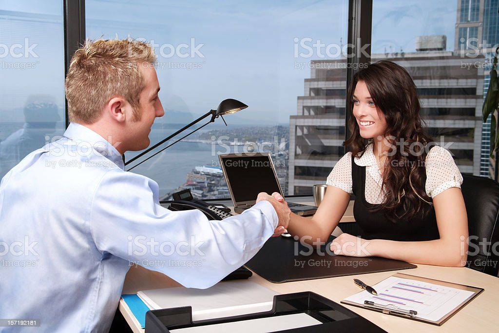 Cooperation: Businesspeople Shaking Hands royalty-free stock photo