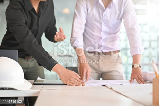 istock Cooperation Corporate Achievement Planning architecture meeting on workspace. 1149719102