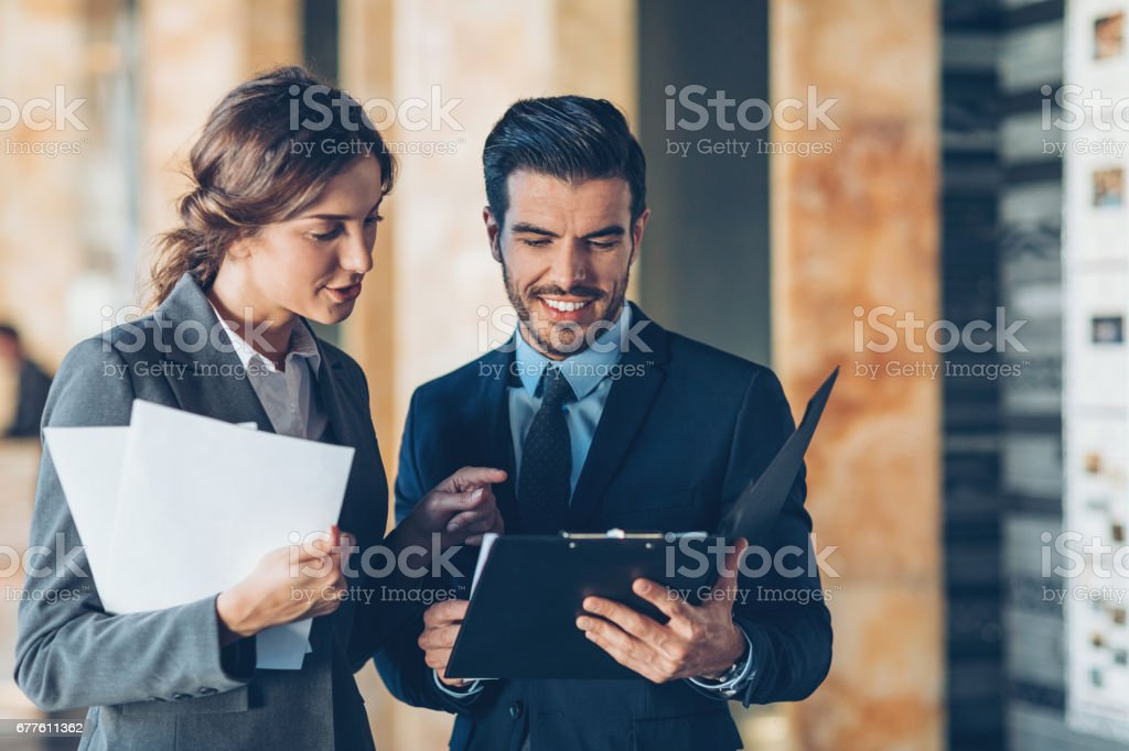 Cooperation is the key for success stock photo