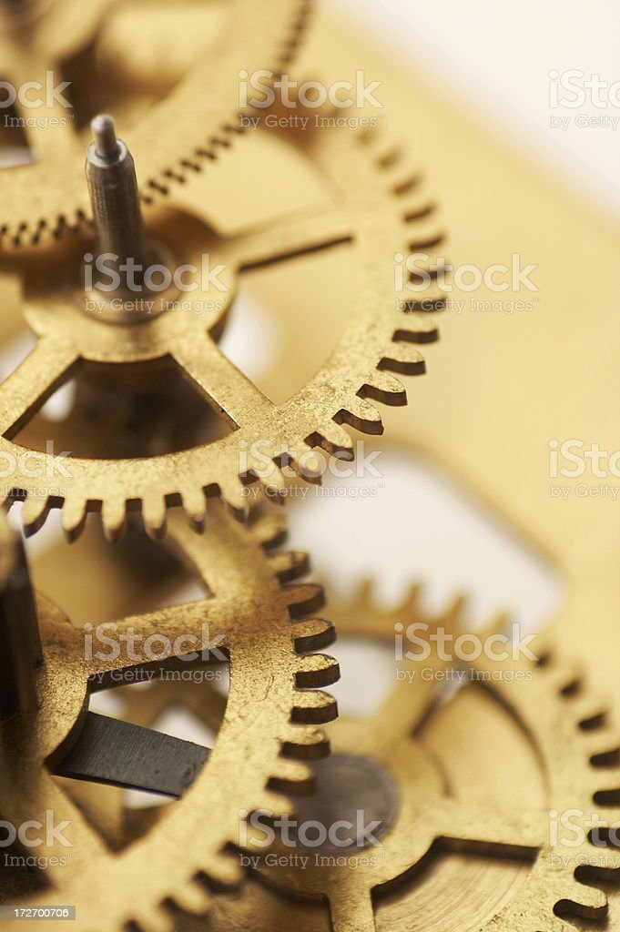 cooperation, teamwork and time concept stock photo