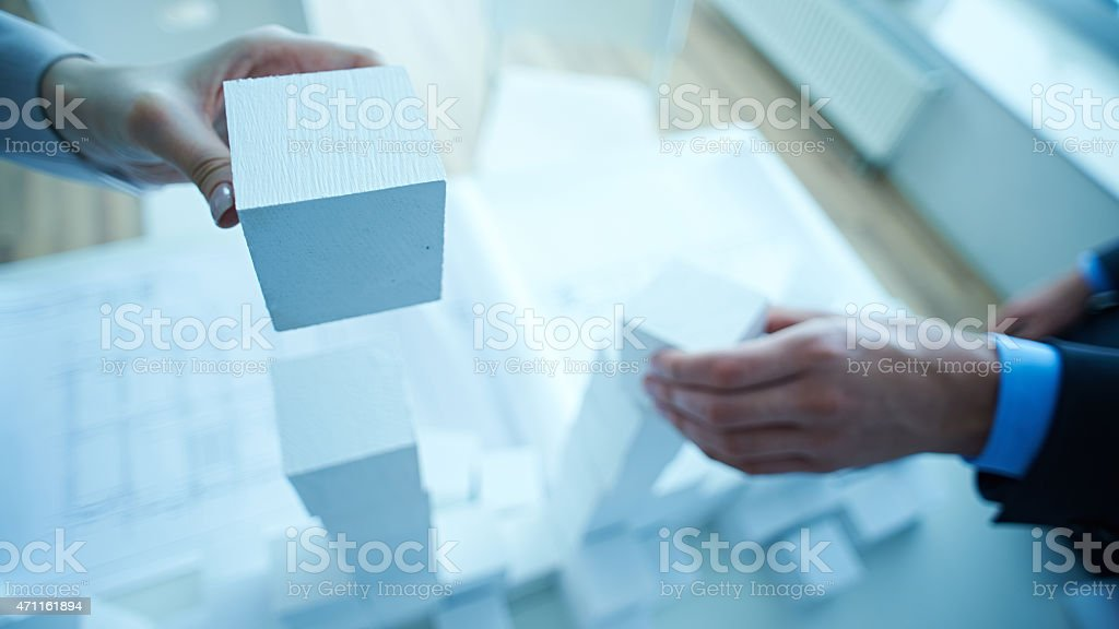 Cooperation training stock photo