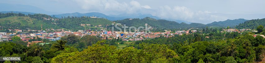 panorama of coorg city