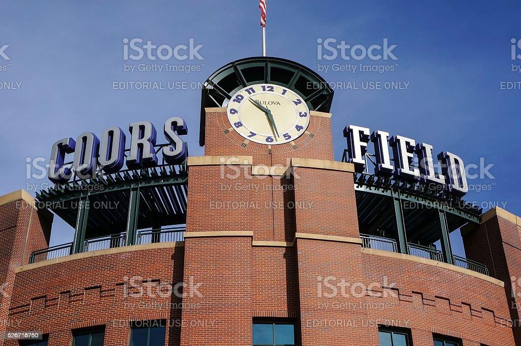 Coors Field, Denver Colorado stock photo