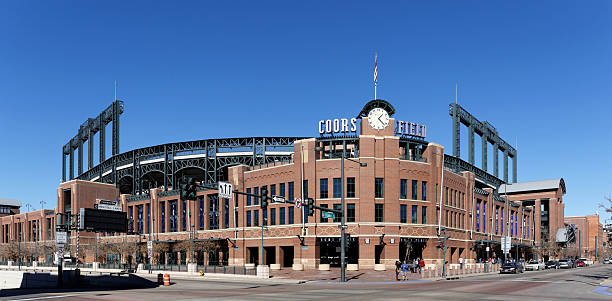 Coors Field Denver, CO, USA - February 9, 2015: Coors Field in Denver, Colorado. Coors Field is a ballpark and the home field of Major League Baseball's Colorado Rockies. major league baseball stock pictures, royalty-free photos & images