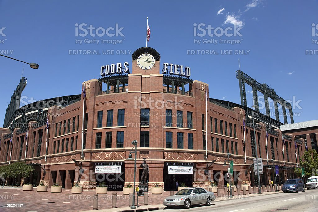 Coors Field stadium in Denver Colorado stock photo