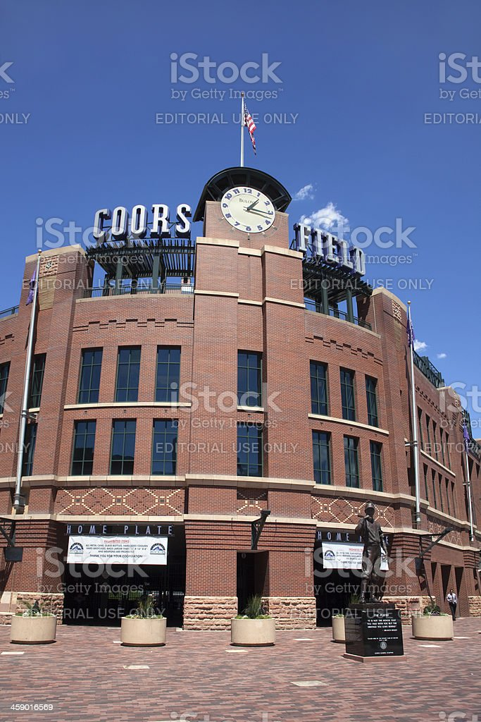 Coors Field stadium in Denver Colorado vertical royalty-free stock photo
