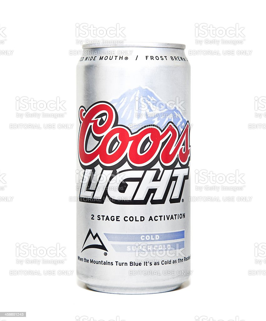 Coors Light Beer Can Stock Photo