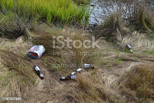 A six pack of Coors Beer bottles have been thrown out along the road going to the George Island Landing boat ramp in Stockton, MD ruining an otherwise nice summer day for many other outdoors activities and families. It has become a sign of the times at many wildlife and nature oriented locales to have such trash discard by the wayside and it is almost always by men driving pickup trucks.