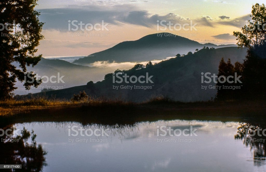 Cooskie Mountain and lake stock photo