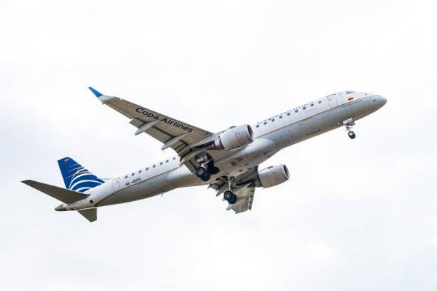 Copa Airlines Flugzeug Landung vorbereiten – Foto