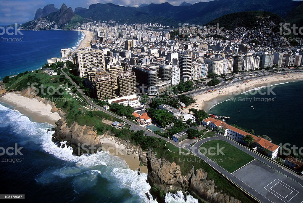 Copacabana and Ipanema beaches royalty-free stock photo