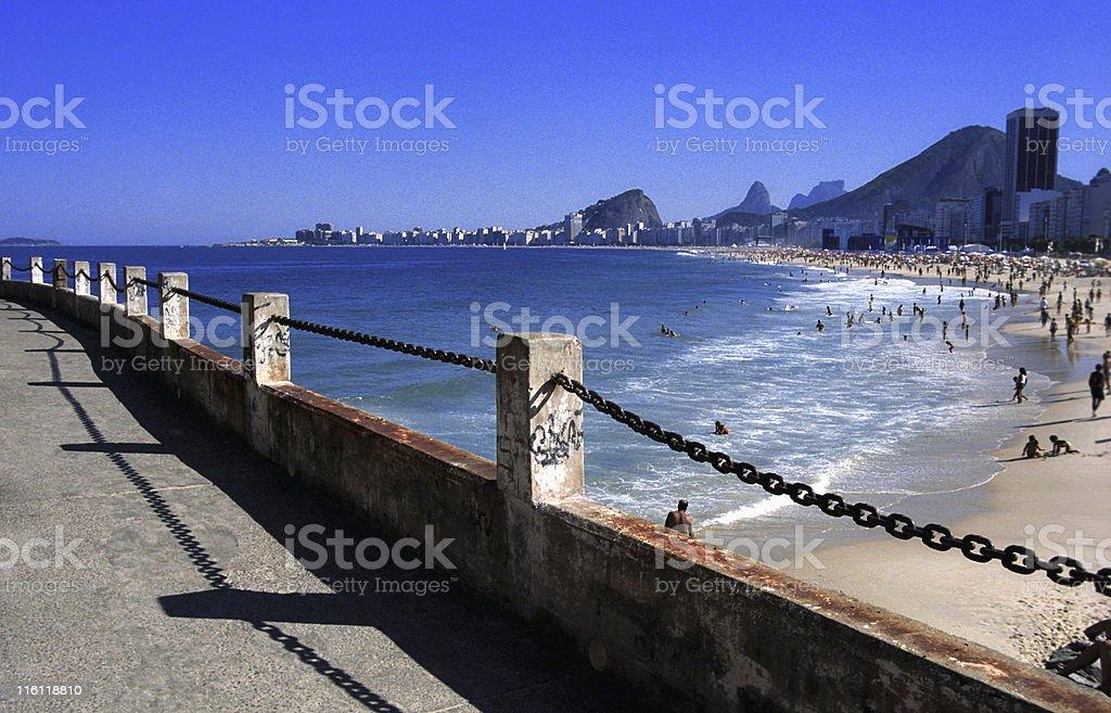 Copacabana and Leme Beach royalty-free stock photo
