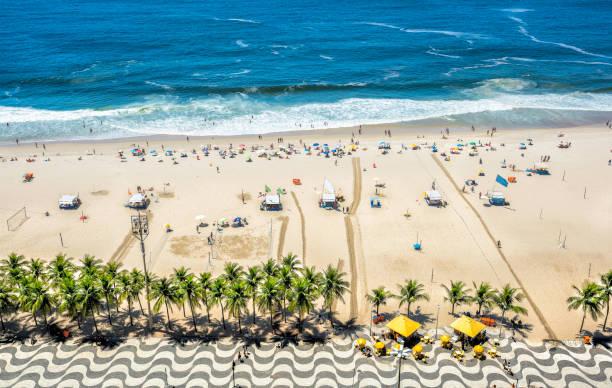 Copacabana Beach from high angle, Rio de Janeiro stock photo