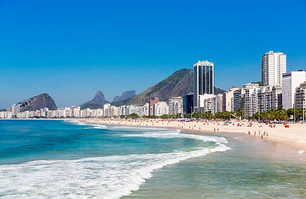 Copacabana Beach in Rio de Janeiro, Brazil Copacabana Beach in Rio de Janeiro, Brazil lagoa rio de janeiro stock pictures, royalty-free photos & images