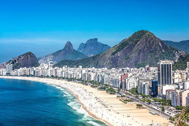 Copacabana Beach in Rio de Janeiro, Brazil stock photo
