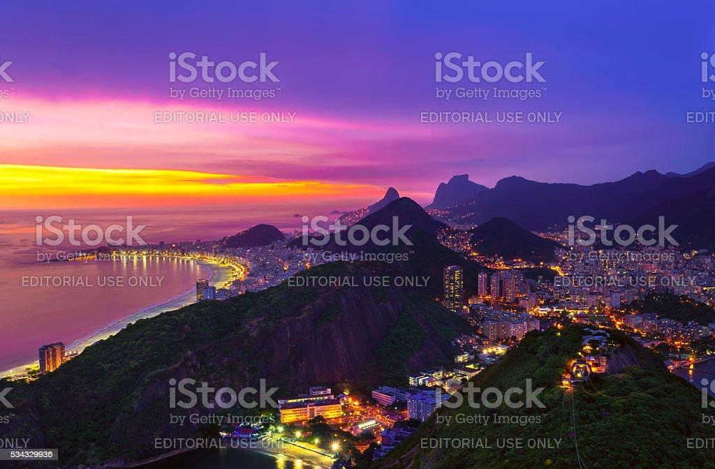 Copacabana beach in Rio de Janeiro. Brazil stock photo