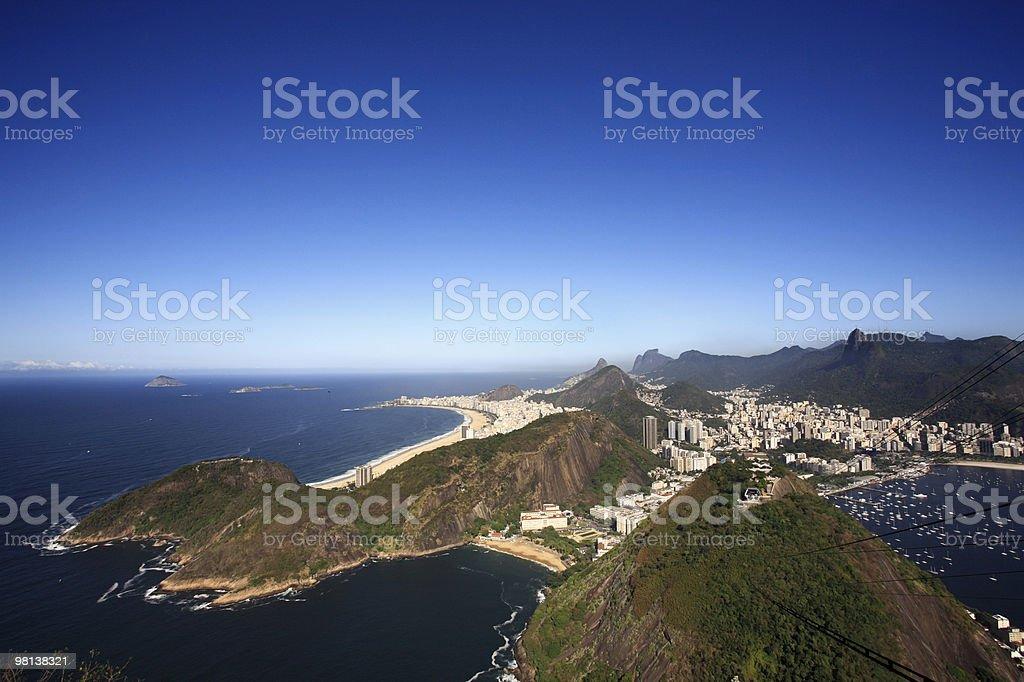 copacabana beach in rio de janeiro brazil royalty-free stock photo