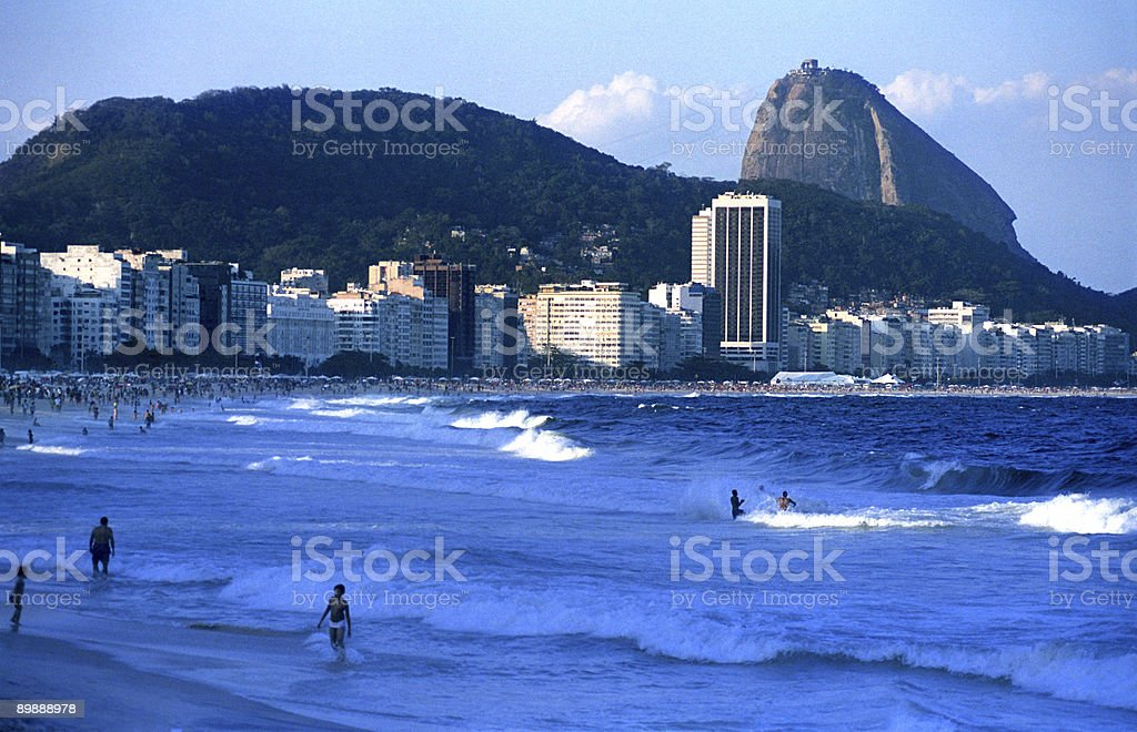Copacabana Beach on the winter royalty free stockfoto