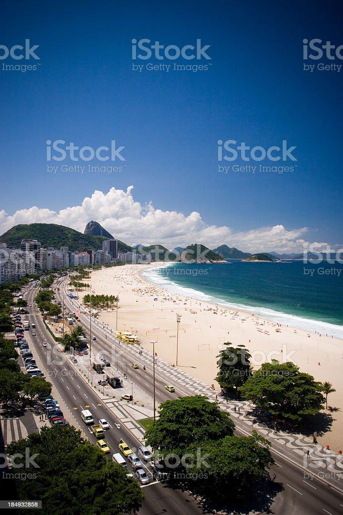 Copacabana Beach overhead view royalty-free stock photo
