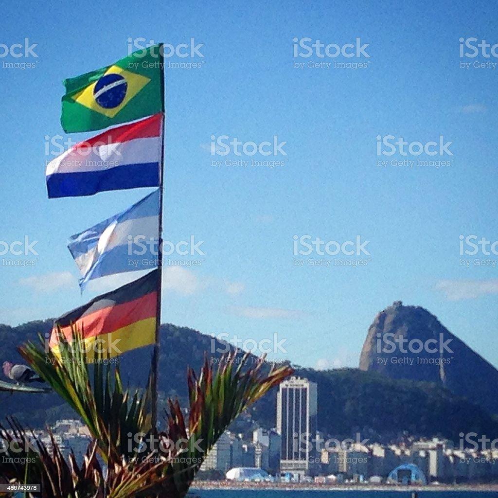 Playa de Copacabana, Río de Janeiro, Brasil - foto de stock
