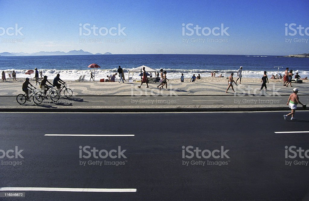 Copacabana Beach, sunday early morning royalty-free stock photo