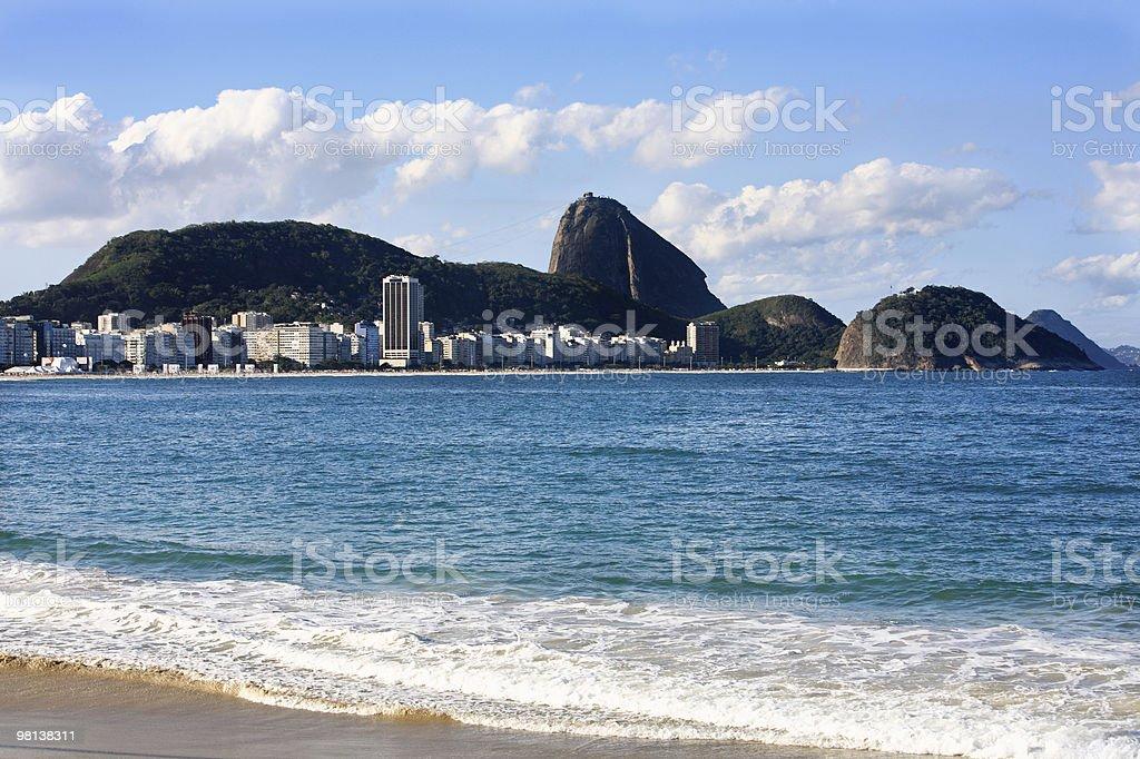 copacabana beach view on the sugarlof in rio de janeiro royalty-free stock photo
