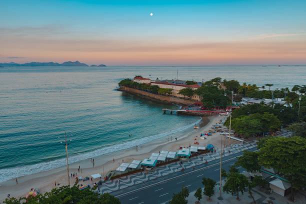 Copacabana Fort in Rio de Janeiro stock photo