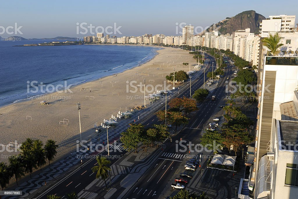 Copacobana Beach by Day royalty-free stock photo