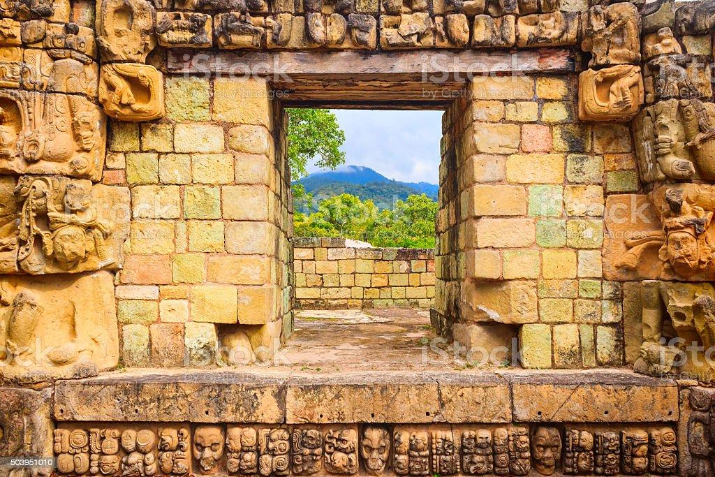 Copan Honduras Ornate Ancient Architecture stock photo