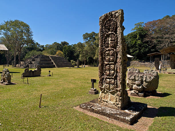 Copan ruinas in Honduras View of ancient Mayan ruins at Copan ruinas in Honduras honduras stock pictures, royalty-free photos & images