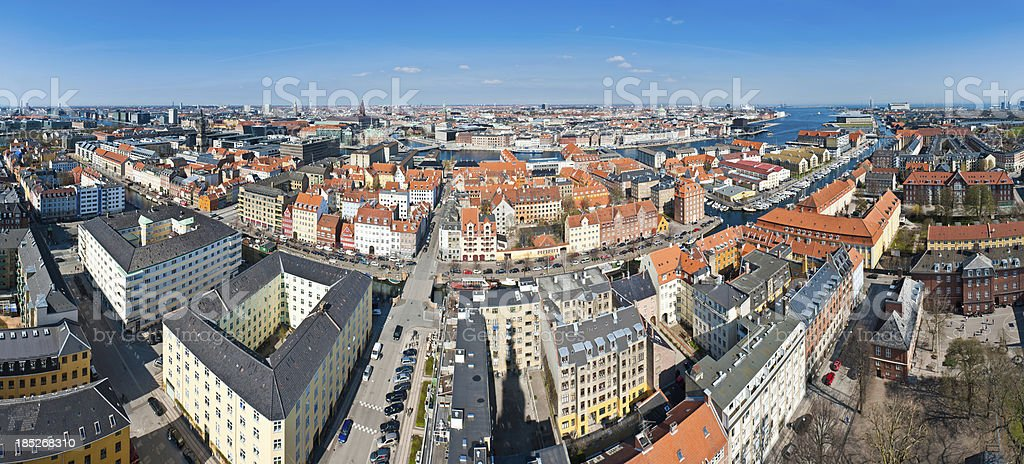 Copenhagen aerial cityscape panorama royalty-free stock photo