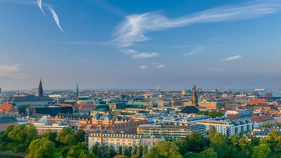 Copenhagen Bij Zonsondergang Schilderachtige Uitzicht Op De Stad Stockfoto en meer beelden van Architectuur