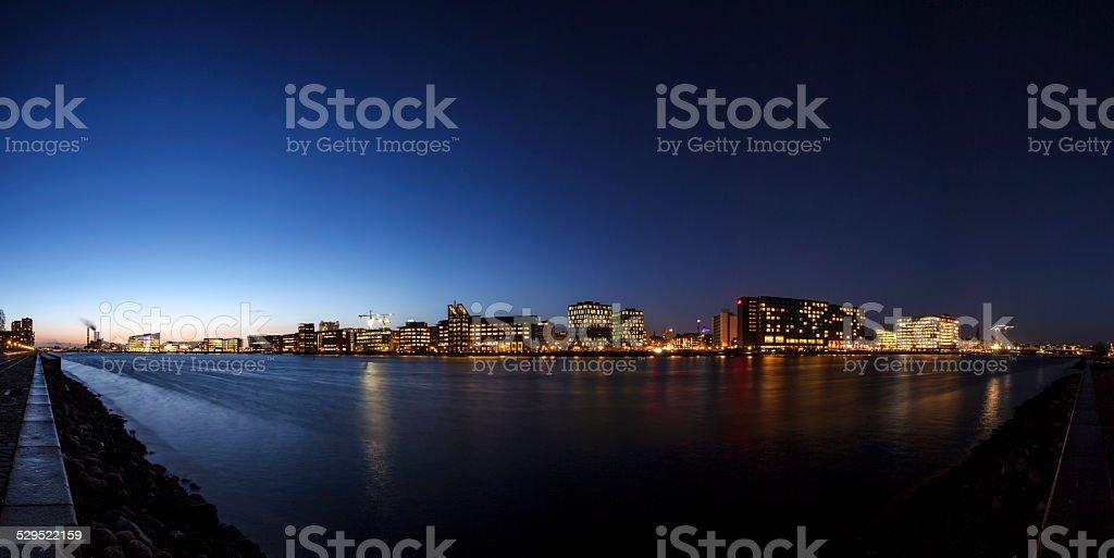 Copenhagen by night stock photo