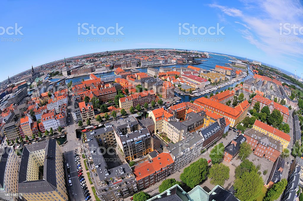 Copenhagen City Aerial View royalty-free stock photo