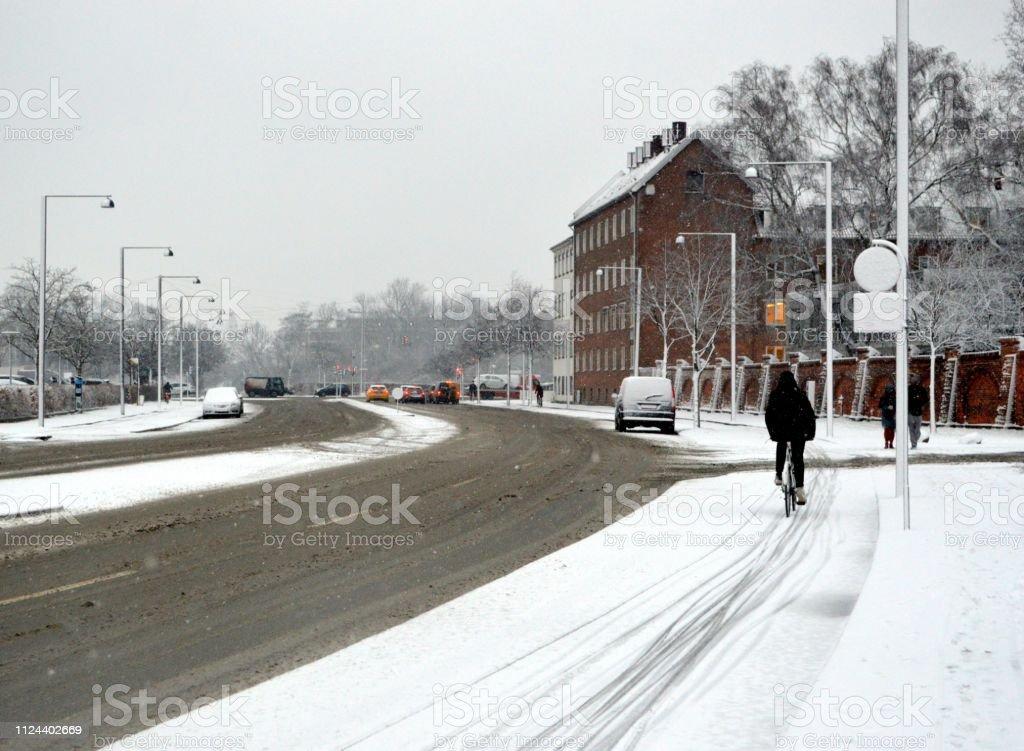 Copenhagen Citylife im winter - Lizenzfrei Auto Stock-Foto