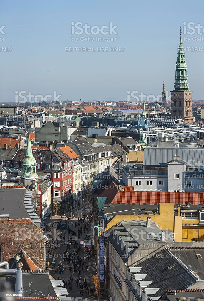 Copenhagen crowds in shopping streets Denmark royalty-free stock photo