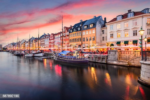istock Copenhagen, Denmark at Nyhavn Canal 587892190
