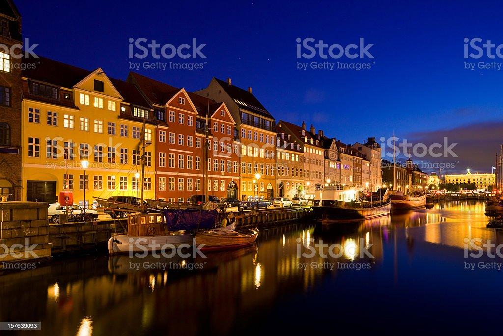 Copenhagen Denmark Nyhavn Canal royalty-free stock photo