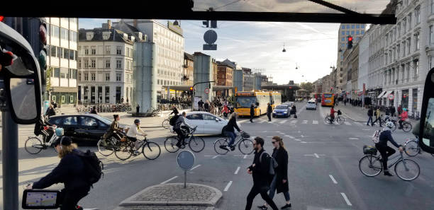 Copenhagen Denmark Rush Hour stock photo