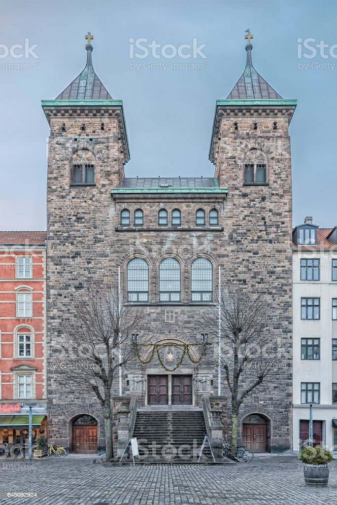 Copenhagen Eliaskirken stock photo