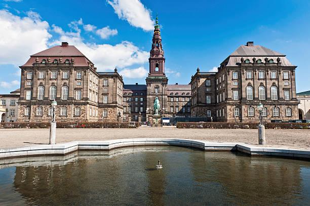 Copenhagen Folketing Parliament Christiansborg Palace stock photo