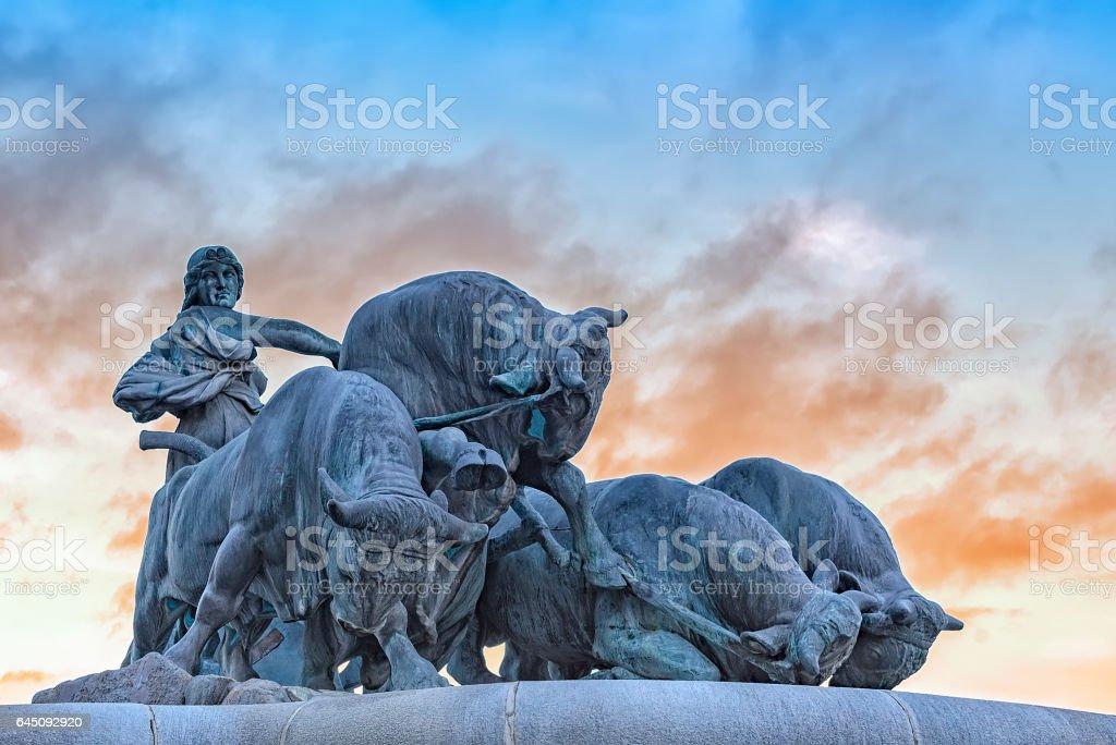 Copenhagen Gefion Fountain stock photo