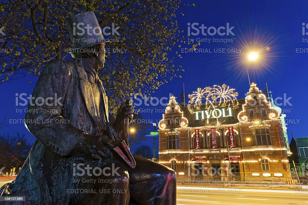 Copenhagen Hans Christian Anderson Tivoli Gardens Denmark royalty-free stock photo