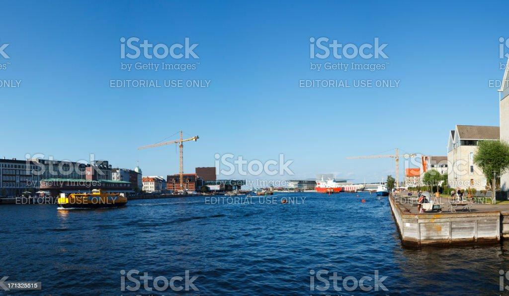 Copenhagen harbor royalty-free stock photo