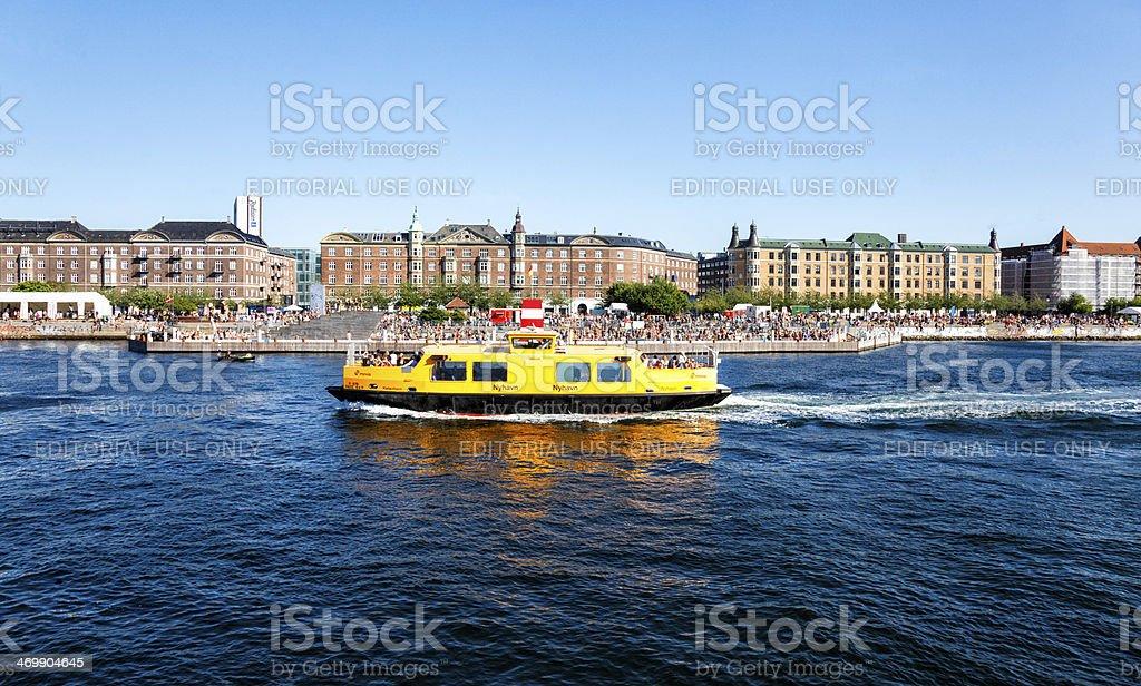 Copenhagen harbour ferry and bath royalty-free stock photo