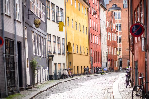 Centro histórico de la ciudad de Copenhague - foto de stock